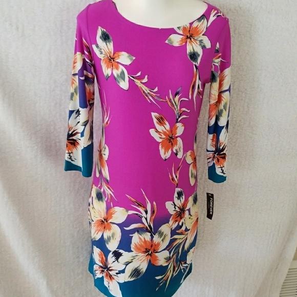 Forever Dresses & Skirts - floral colorful shift dress slip on